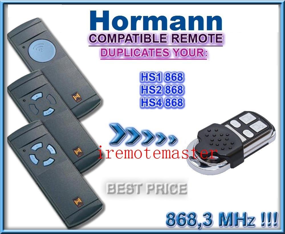 Top quality! Hormann HS1 HS2 HS4 868mhz compatible remote control hormann hs1 868 hs2 868 hs4 868mhz remote control replacement
