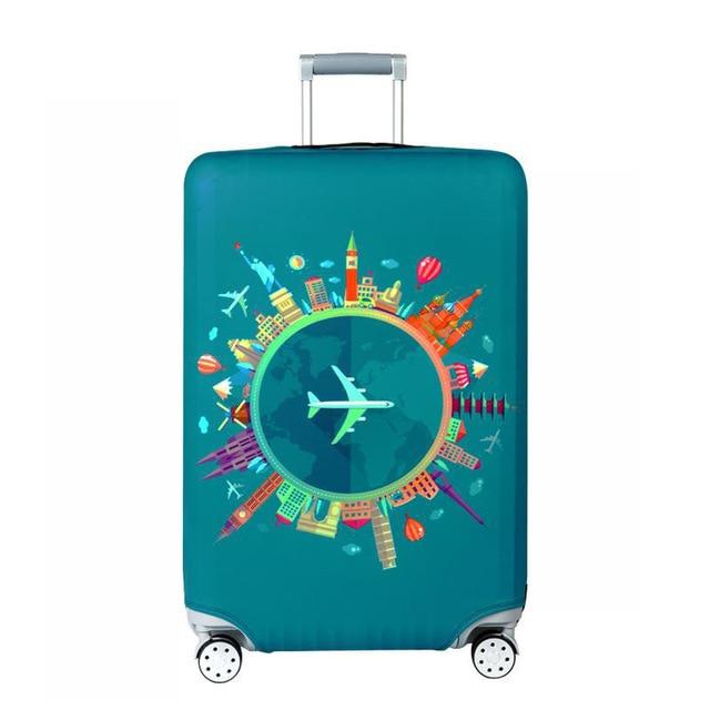HMUNII карта мира, дизайнерский защитный чехол для багажа, Дорожный Чехол для чемодана, эластичные пылезащитные Чехлы для 18-32 дюймов, аксессуары для путешествий - Цвет: Aircraft