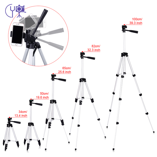 CY 1 قطعة حامل ثلاثي القوائم احترافي العالمي المحمولة كاميرا رقمية كاميرا حامل ثلاثي القوائم الألومنيوم خفيفة الوزن لكانون نيكون سوني
