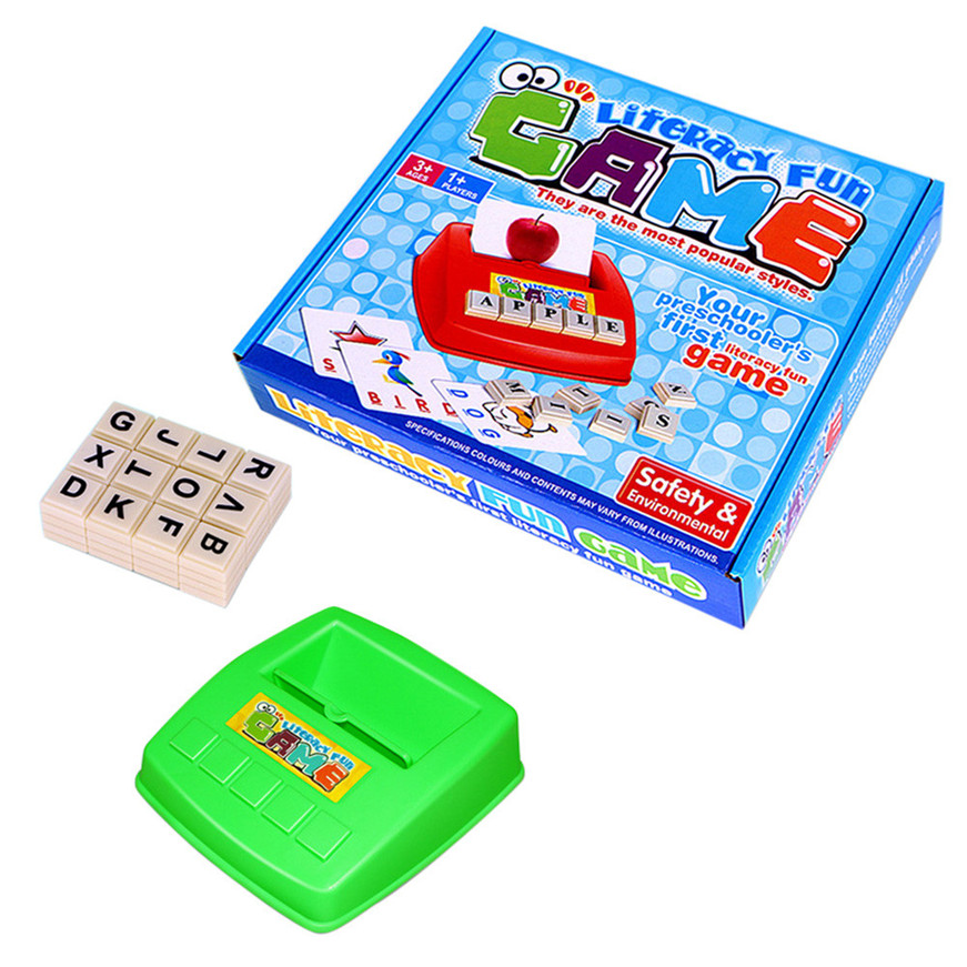 Sozzy 2018 A# random color English Spelling Alphabet Letter Game Early Learning Educational Toy Kids