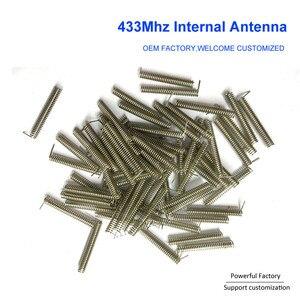 Image 5 - Niestandardowy brąz fosforowy/niklowany 2dbi wewnętrzna sprężyna PCB 433Mhz antena cewki 100 sztuk/partia