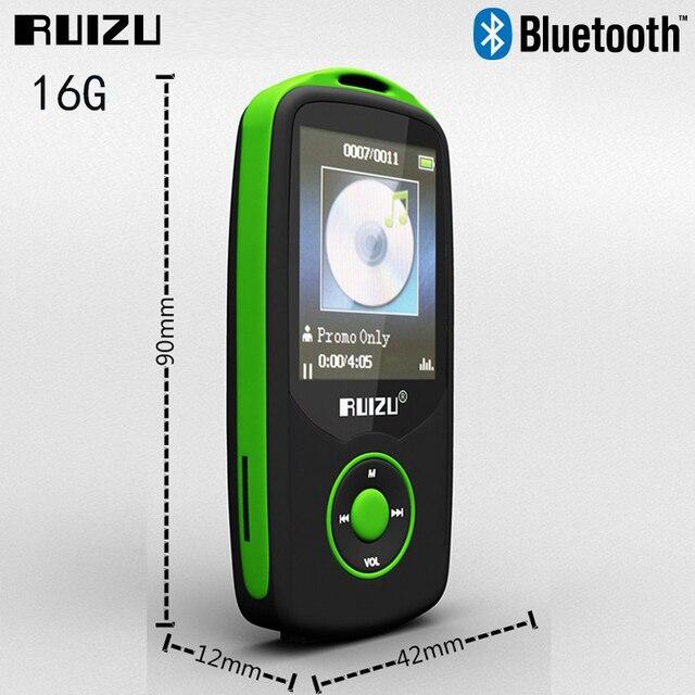 Nueva RUIZU X06 mp3 Bluetooth Deporte Reproductor de MP3 16G 1.8 Pantalla reproductor de 100 H de alta calidad Grabadora de FM reproductor de mp3 de alta fidelidad de Música sin pérdidas