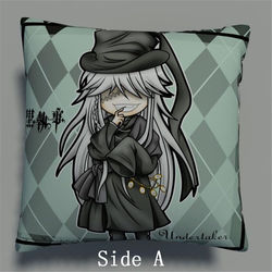 Preto mordomo coveiro anime dois fronhas laterais abraçando travesseiro capa de almofada otaku cosplay presente novo 348
