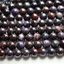 Wholesale (approx52 beads/set/45g) natural rare Sugilite 7.5 8mm smooth round loose beads stone for jewelry design DIY making