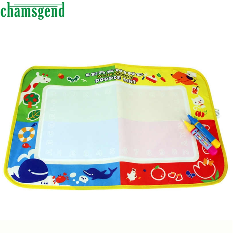 CHAMSGEND Best seller drop ship new Water Drawing Painting Writing Mat with four color Magic Pen Doodle Toy Gift S30