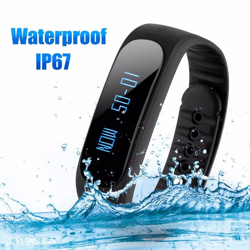 imágenes para Diggro SW19 Inteligente Podómetro Salud Pulsera de Fitness Bluetooth 4.0 IP67 Impermeable Mensaje Longsit Recordatorio Sueño Calorías Tracke