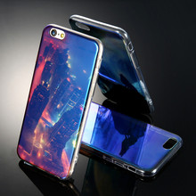 Blue Ray Light & Clear Transparent Cover Case For iPhone