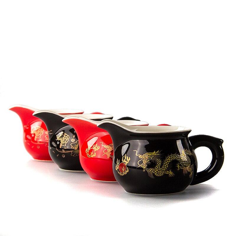 Handade Juste Tasse à Thé Théière Juste Tasse Drankware Justice Tasse théière Points de Thé ware Chinois Kung Fu Thé Tasse Ensemble D008