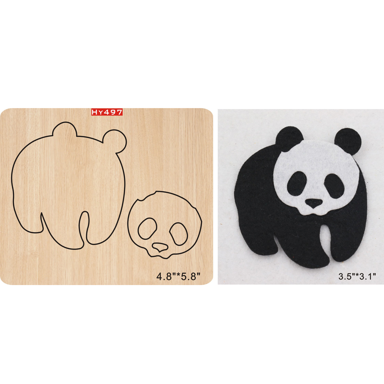 panda 2019 new wooden mould cutting dies for scrapbooking Thickness 15 8mm in Cutting Dies from Home Garden