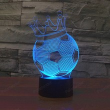 cheap 2017 New 3 football Shape D lights colorful touch LED visual light gift atmosphere decorative lamp USB,image LED lamps offers
