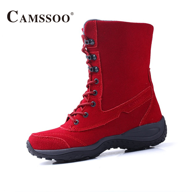 Camssoo Women Outdoor Shoes Anti-Skid Wear Women Hiking Boots Comfortable Female Sports Shoes B2841 mama heart pattern baby anti skid shoes white light brown