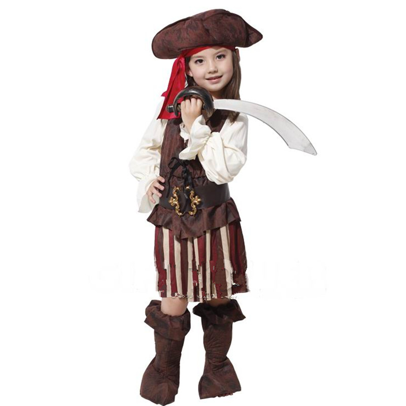 Kids Children's day Birthday Party Dress Pirate Captain Costume cospaly Halloween Fantasy children pirates costumes
