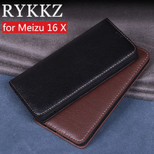 RYKKZ Luxury Leather Flip Cover For Meizu 16 X Mobile Stand Case For Meizu 16X Meizu 16th 16th Plus Leather Phone Case Cover цены