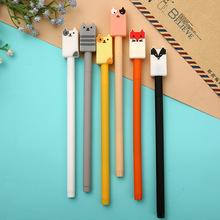 36 Pcs/lot Cartoon Animal Gel Pens For Writing Cat Fox 0.5mm Black Neutral Pen Kawaii Stationery Escolar School Office Supplies