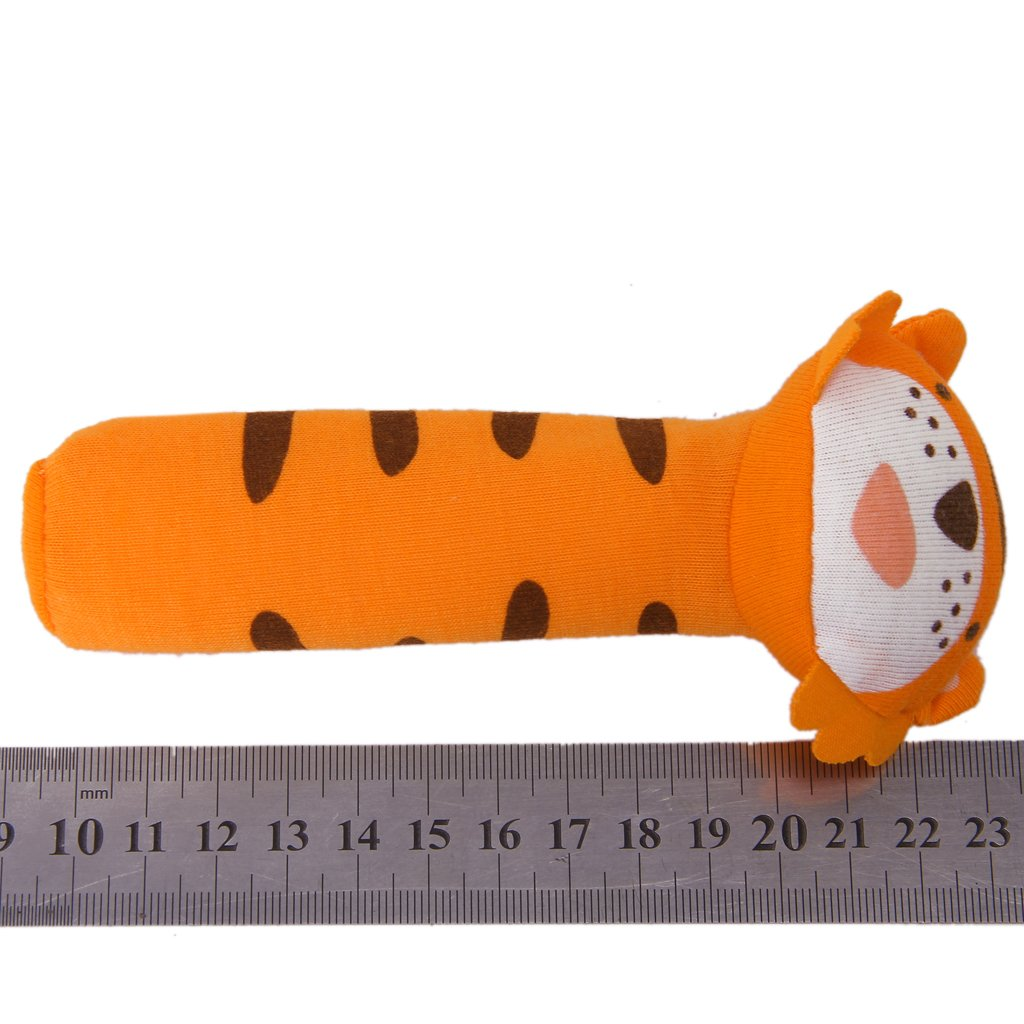Baby toy in the shape of Tiger bar with Rattle Sound Fabric Toys ...
