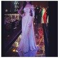 Vestido de festa elegante de luxo Chegada Nova Custom made Lace a linha Árabe vestidos De Noite 2017 vestido de Noite Longo Robe de sarau