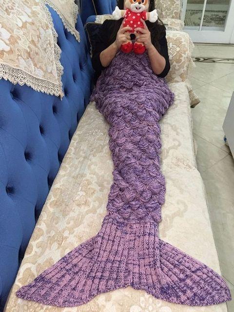 Creative Colorful Mermaid Tail Soft Blanket 6