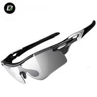 RockBros Polarized Cycling Glasses Photochromic Sport Sunglasses Bicycle Bike Glasses Cycling Eyewear Gafas Ciclismo 2 Lens