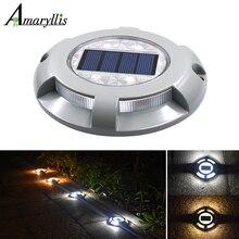 Светодиодный светильник на солнечной батарее с дорожным тропом, водонепроницаемый светильник для безопасности, уличный светильник для подъездных дорожек, дорожек, двора, сада, ступенчатая лампа