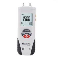 LCD HT-1890 Digital Manometer Air Pressure Meter Pressure Gauges Differential Gauge Kit + Case+Retail Box Data Hold 11 Units