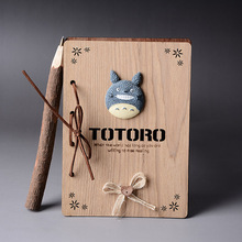 Studio Ghibli TOTORO  Wooden Cover Notedbook with Pen