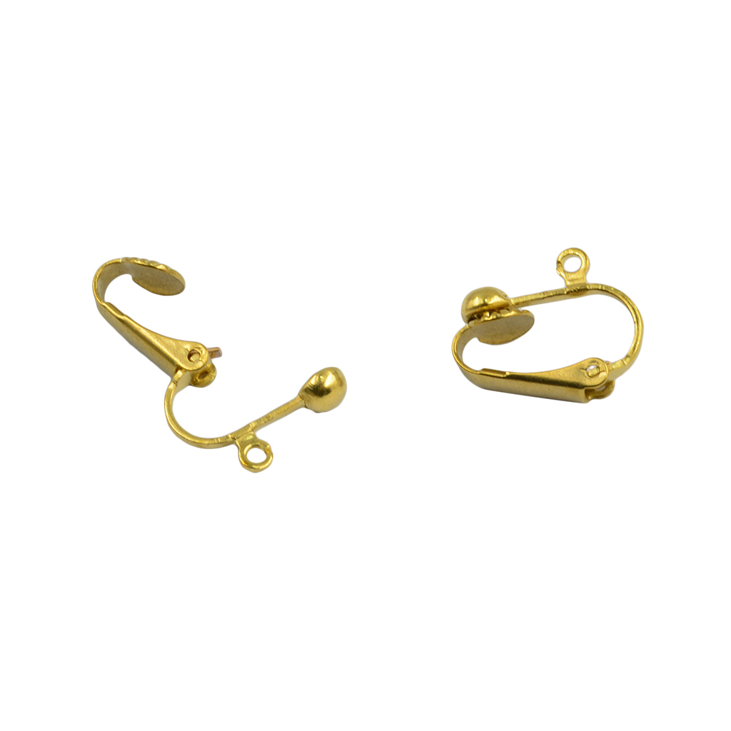 b99fb8859 20pcs clip-on earring converter with easy open loop, gold and silver