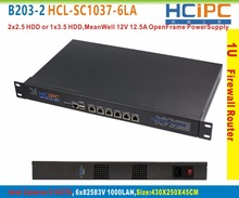 HCiPC B203-2 HCL-SC1037-6LA-SYSTEM, Celeron C1037U 6LAN 1U Брандмауэр Системы, 6×82583 В LAN Маршрутизатор, 6LAN Брандмауэр Материнская Плата