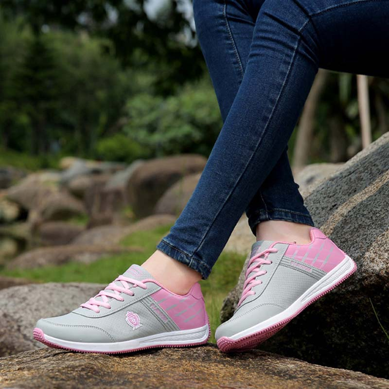 VTOTA Spring Sneakers Flat Pink Platform Walking Ladies Shoes Casual Waterproof Vulcanize tenis feminino Comfortable