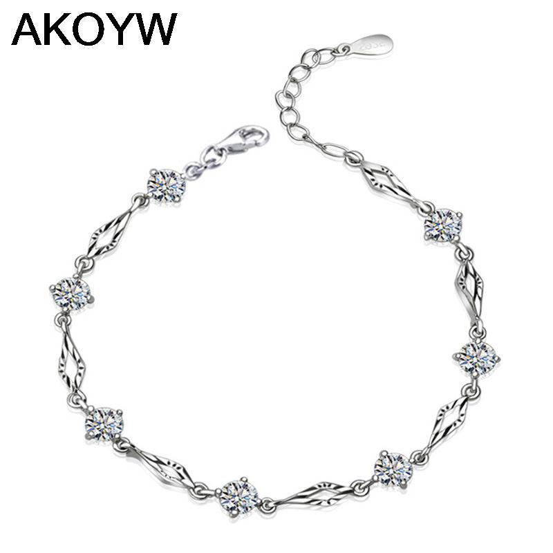 Silver Plated Bracelet Fashion Female Models Cute Vintage Jewelry Wild Super Flash Crystal Jewelry Manufacturers Wholesale on smoke alarm poster