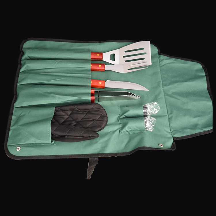 8Pcs/Set Bag Package BBQ Tool Utensil SUS 304 Stainless Steel Camping Supper-quality Outdoor Accessorie Cooking Barbecue Norusty