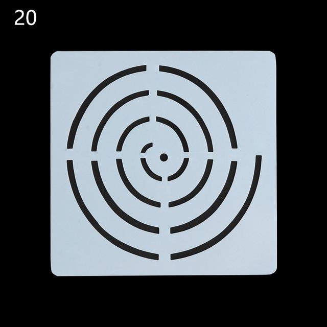 Geometric Pattern Mandala Stencil For Painting and Dotting