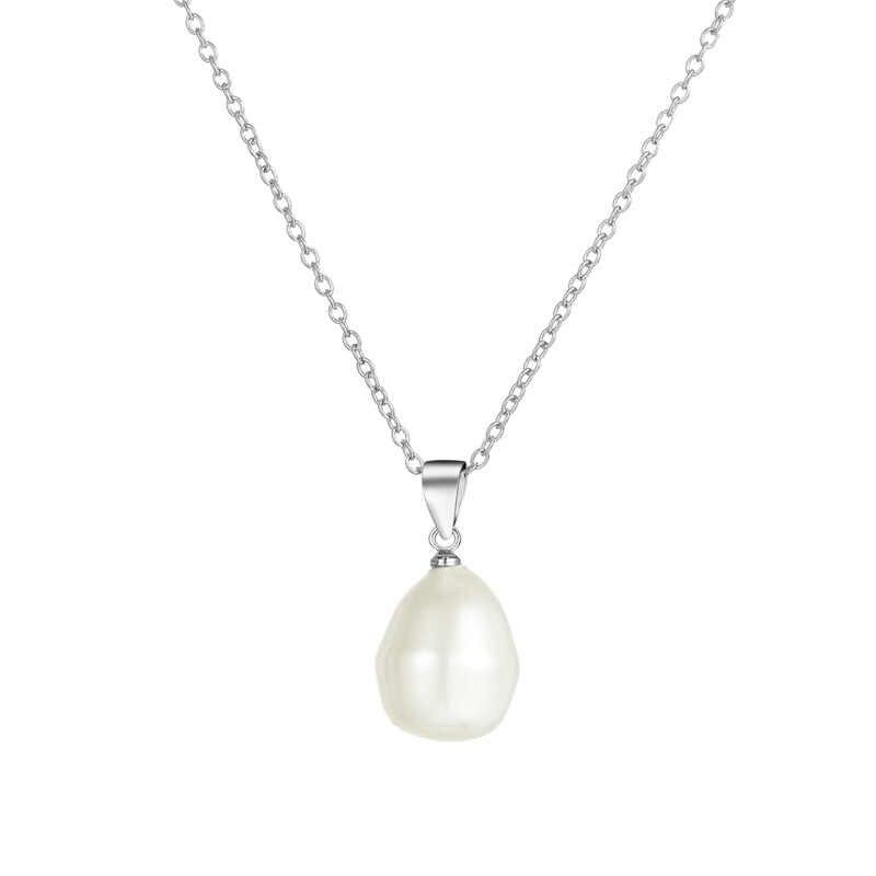 AAAA แท้สีขาวไข่มุกจี้ 925 สร้อยคอเงินผู้หญิงขายส่งขนาดเล็กขนาด Pearl เครื่องประดับ