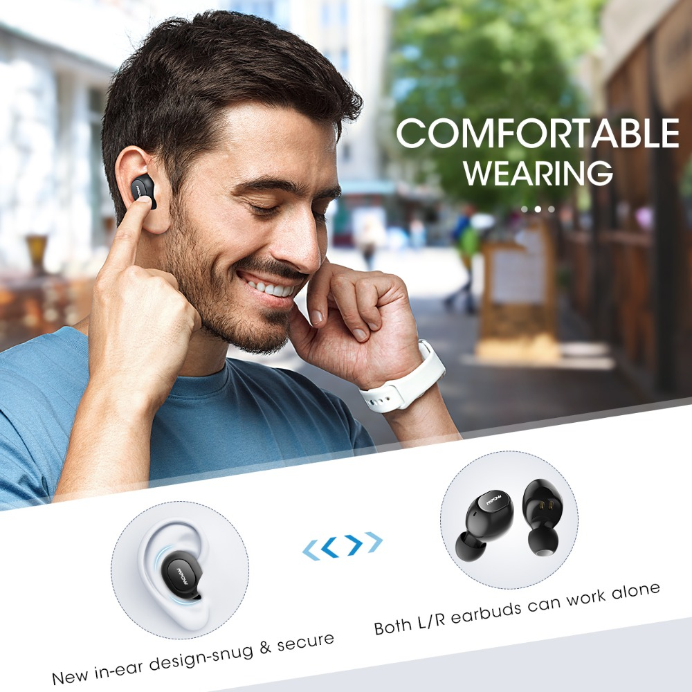 Mpow T5/M5 IPX7 Wireless TWS Earbuds APTX Bluetooth 5.0 Earphones 36H Playing Stereo CVC8.0 Noise Cancelling Headphones With Mic