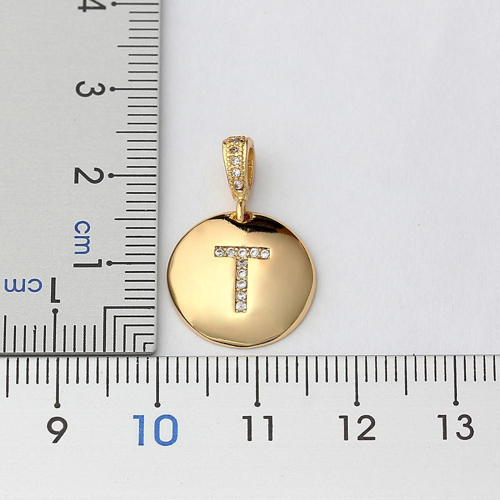 Collana da donna iniziale di alta qualità da donna collana in oro 26 lettere pendenti con collane con ciondoli collana personale con gioielli in rame CZ 2