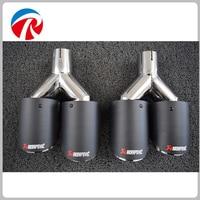 ID 2 48 OD 3 54 Inch Car Akrapovic Exhaust Tips Muffler Pipe For BMW Audi