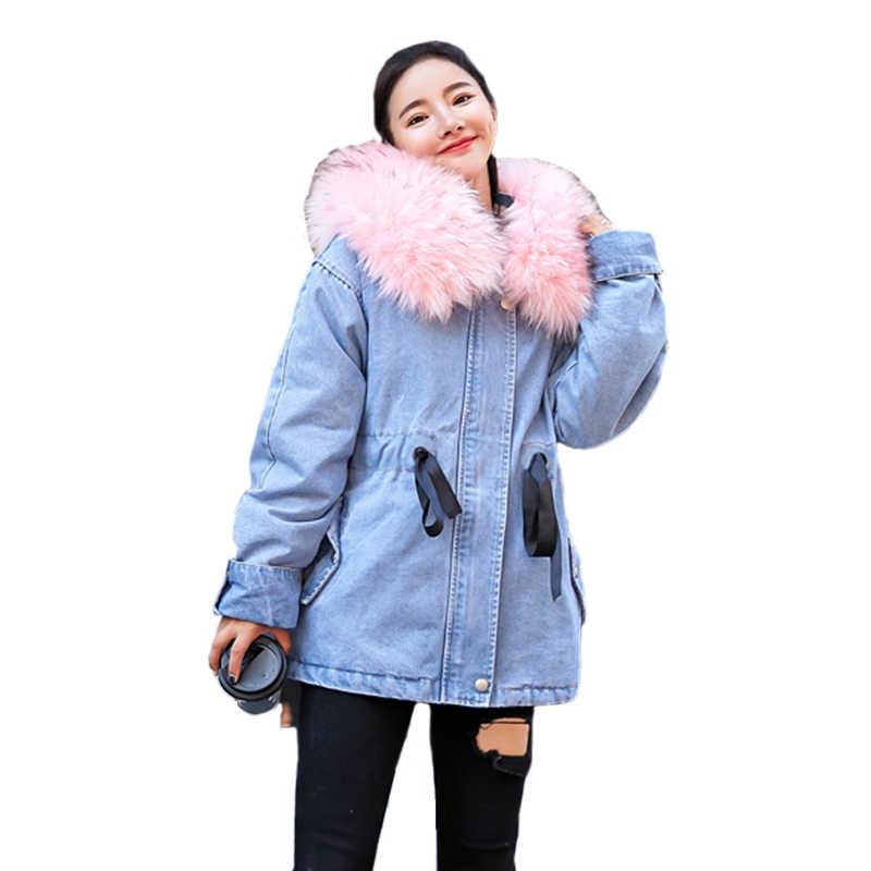 Парка с натуральным мехом Куртки женская зимняя куртка с капюшоном зимняя  куртка высокого качества из искусственного c9c92995039