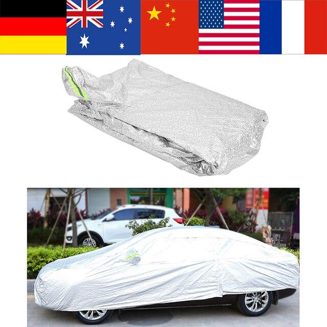 VGEBY Universal Exterior Aluminum Coating Full Car Cover Outdoor Waterproof Sun UV
