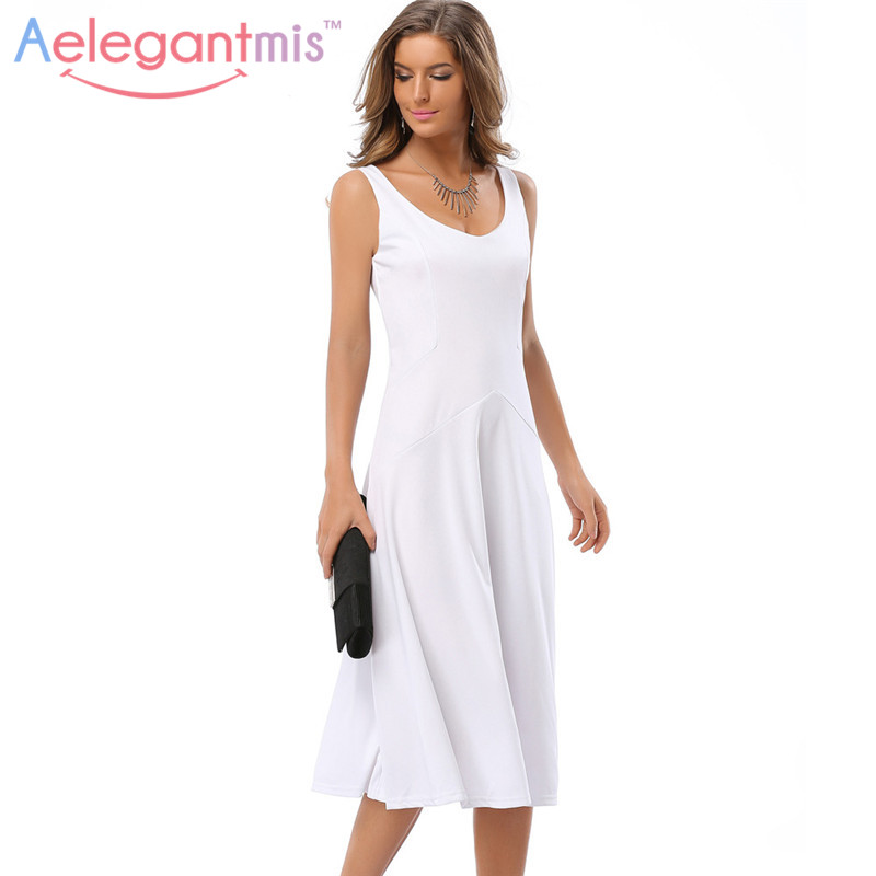 Online Get Cheap Knee Length White Dresses -Aliexpress.com ...