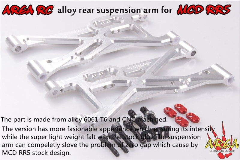 AREA RC alloy rear suspension arms for MCD RR5 rc alloy differential rear area for losi 5ive t transmission
