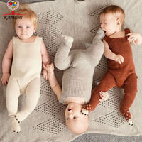 KAMIMI Baby Knitting Romper Autumn New Style Soft Newborn Baby Boys Girls One Pieces Woolen Jumpsuit