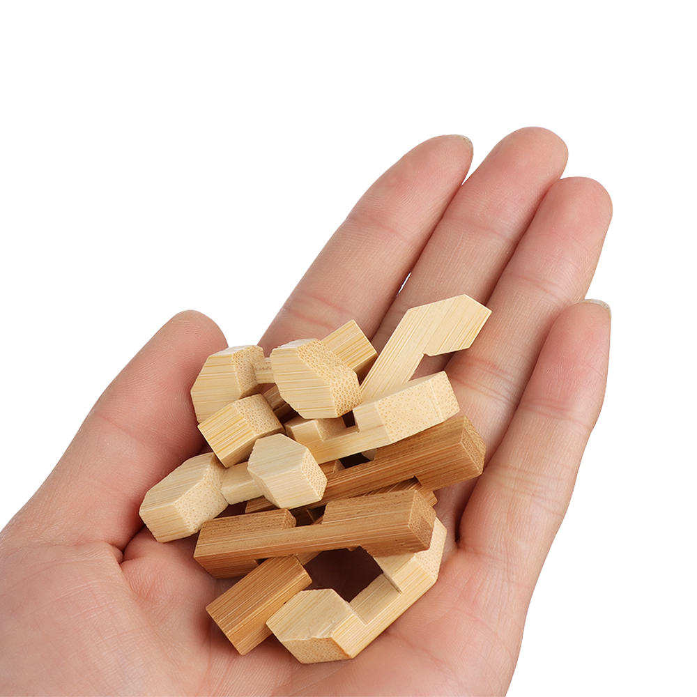 2018 New Design IQ Brain Teaser Kong Ming Lock 3D Wooden Interlocking Burr  Puzzles Game Toy For Adults Kids