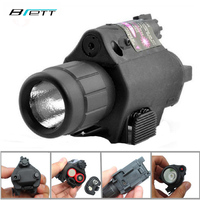 Tactical Flashlight Red Laser Or Green Laser Optional 3 Files Adjust The Tail Hunting Laser Aiming