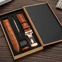 Bracelet de montre en cuir véritable pour Samsung Galaxy gear s3 Galaxy 42mm 46mm bracelet de montre actif 18mm 20m 24mm bracelet en cuir 22mm