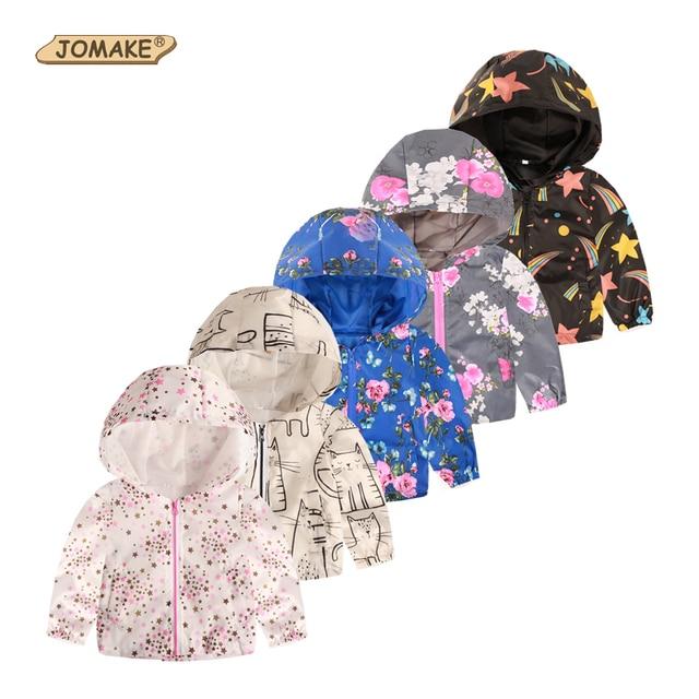 JOMAKE 2019 Брендовая детская одежда куртки для мальчиков детская ветровка с капюшоном одежда для малышей пальто Детские Водонепроницаемые толстовки для девочки