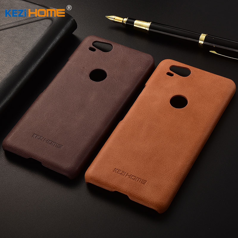 for Google Pixel 2 case KEZiHOME Frosted Genuine Leather Hard Back Cover capa For Google Pixel2 5.0'' Phone Protector cases