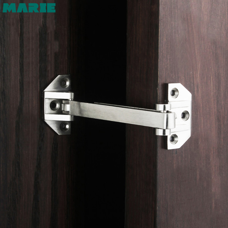DG002 Door Security Guard Zinc Alloy Swing Bar Lock Brushed Finish Door Bolts Door Safety Chain Home Hotel