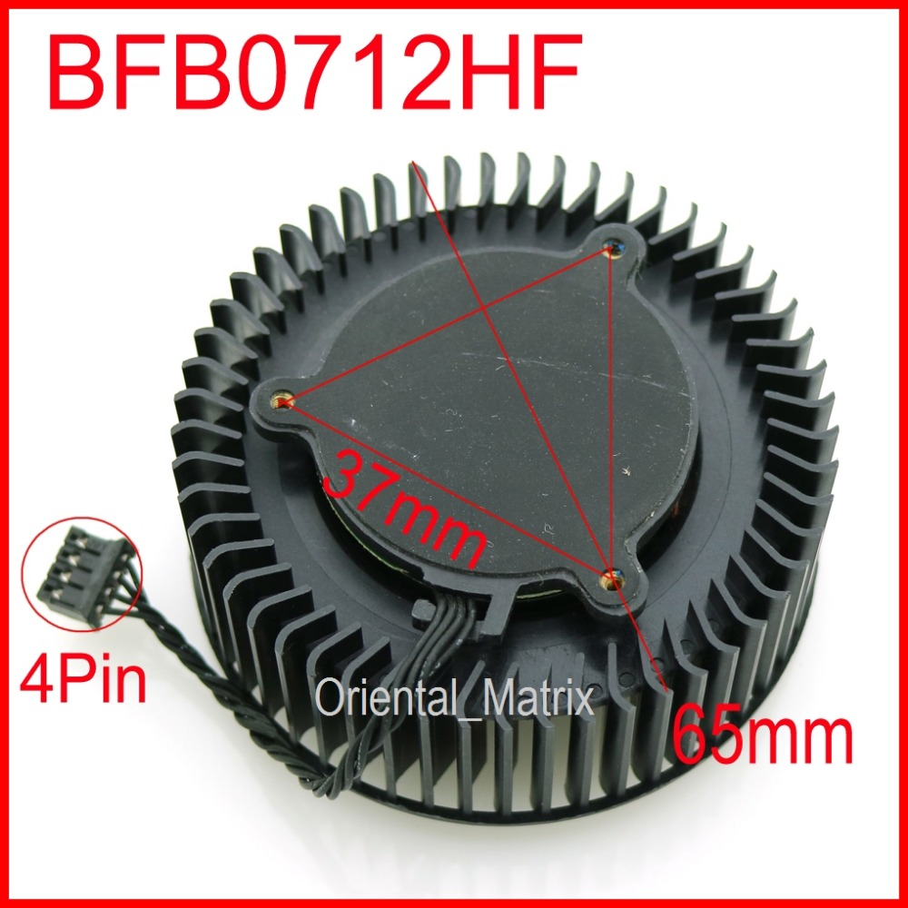 BFB0712HF 65mm 37*37*37mm 12V 1.8A Fan For NVIDIA GTX Titan GTX980  980Ti Graphics Card Cooling Fan 4Pin 4Wire pci fan graphics card cooling daul 9cm fan for nvidia