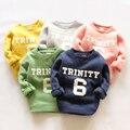 Números y letras de lana baby girl boy niños de los niños del desgaste de nuevo fondo de 2015 otoño y el invierno invierno más el terciopelo abrigo