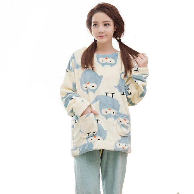XXL Grande Tamanho Mulheres Inverno Pijama de Flanela Conjuntos de Pijama Mujer Plus Size Pijamas Feminino Rosa Pijamas Pijamas Das Mulheres Sleepwear