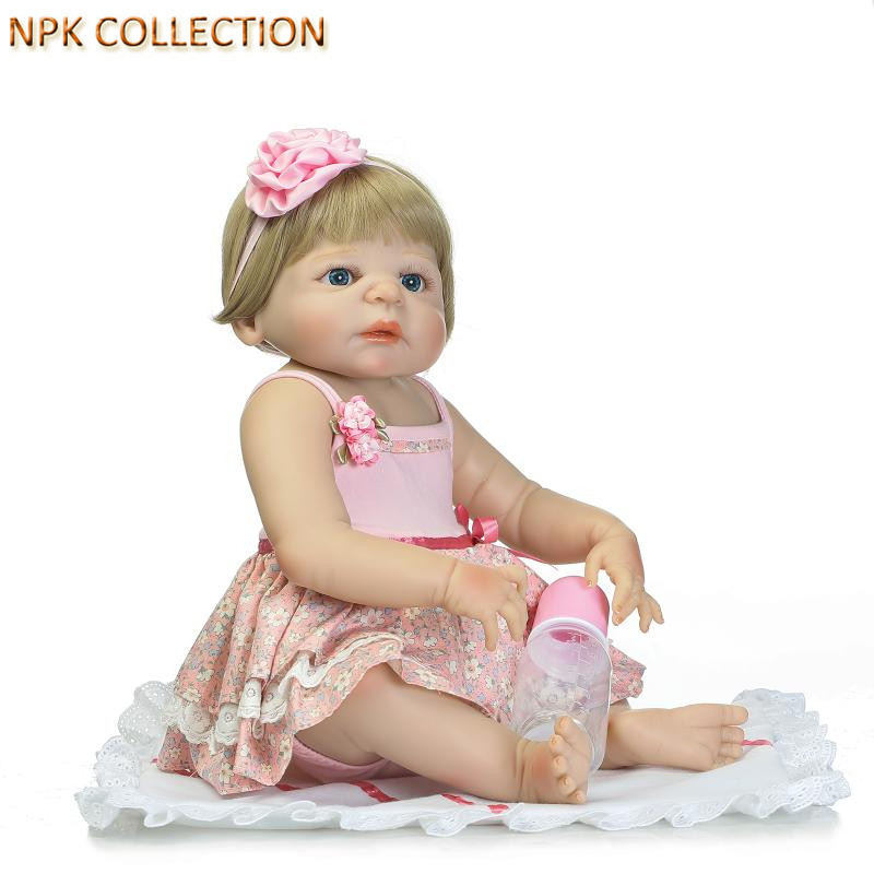NPK COLLECTION Realistic Reborn Baby Alive Dolls Real Silicone Doll for for Girls Gifts,21 Inch Reborn Babies Girl Doll Bonecas